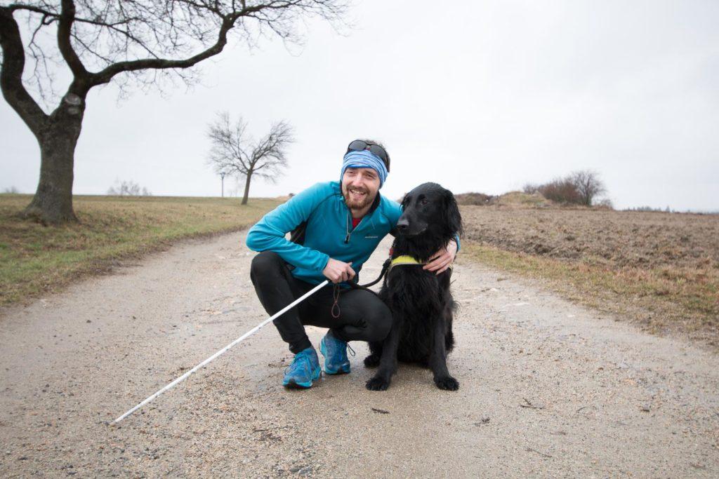 Ondra Zmeškal a pes Black